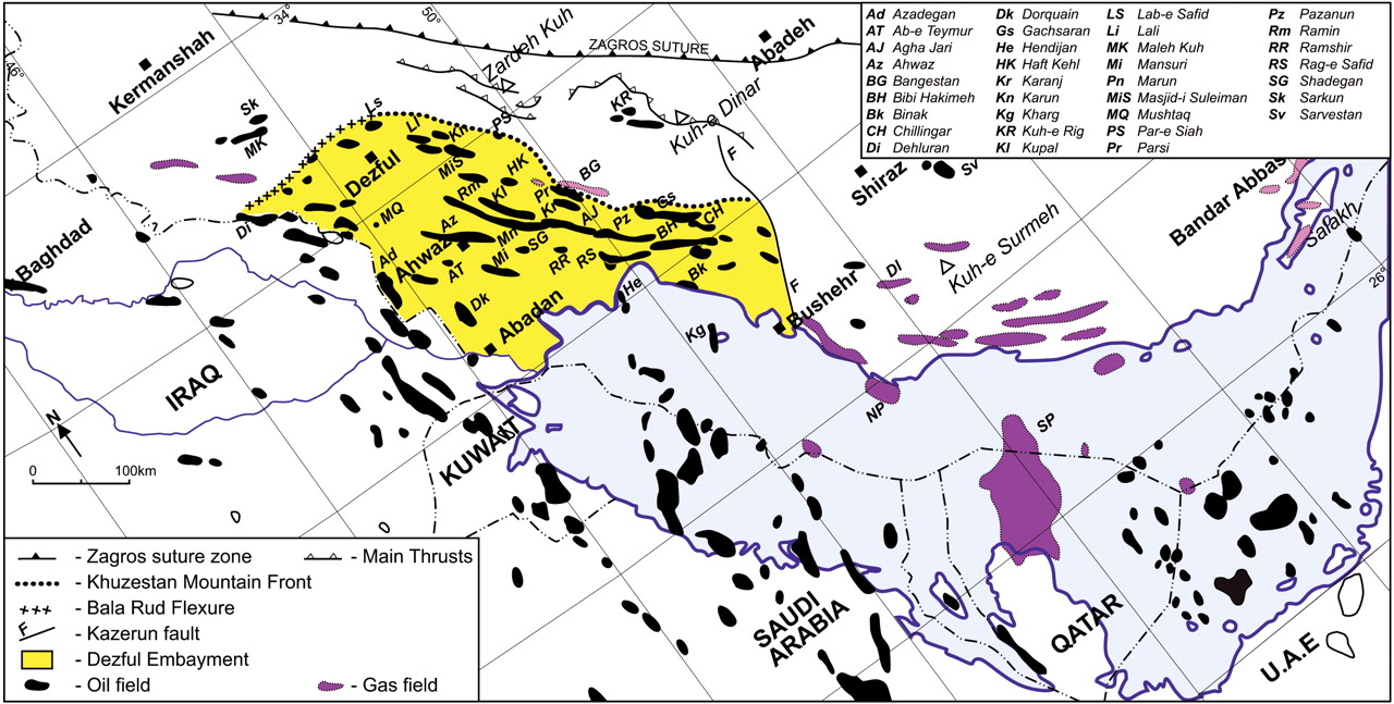 Current distribution of oil and gas fields in the zagros fold belt download figure biocorpaavc