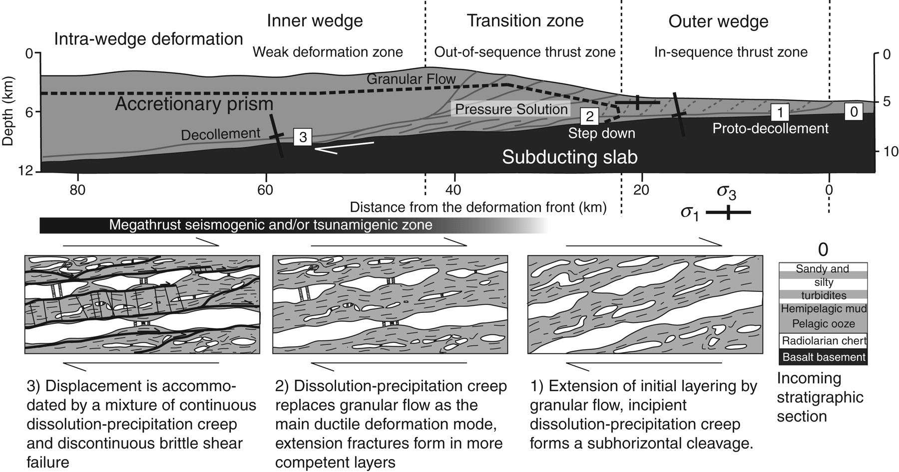 Geology of the seismogenic subduction thrust interface ...