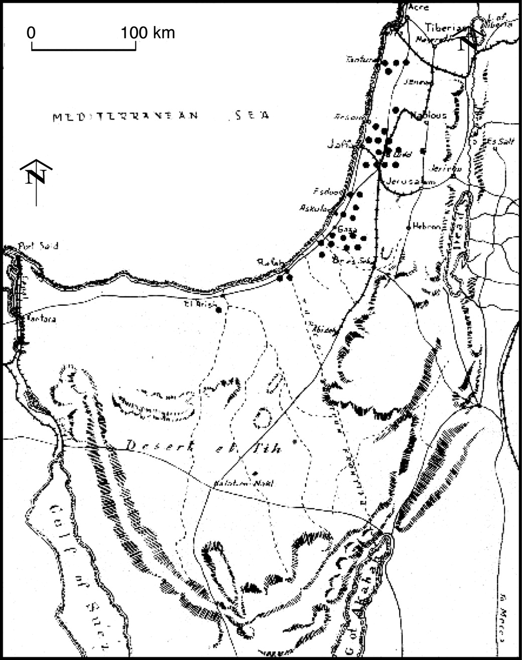 Groundwater As A Military Resource Pioneering British Military - Groundwater prospect map of egypt's qena valley