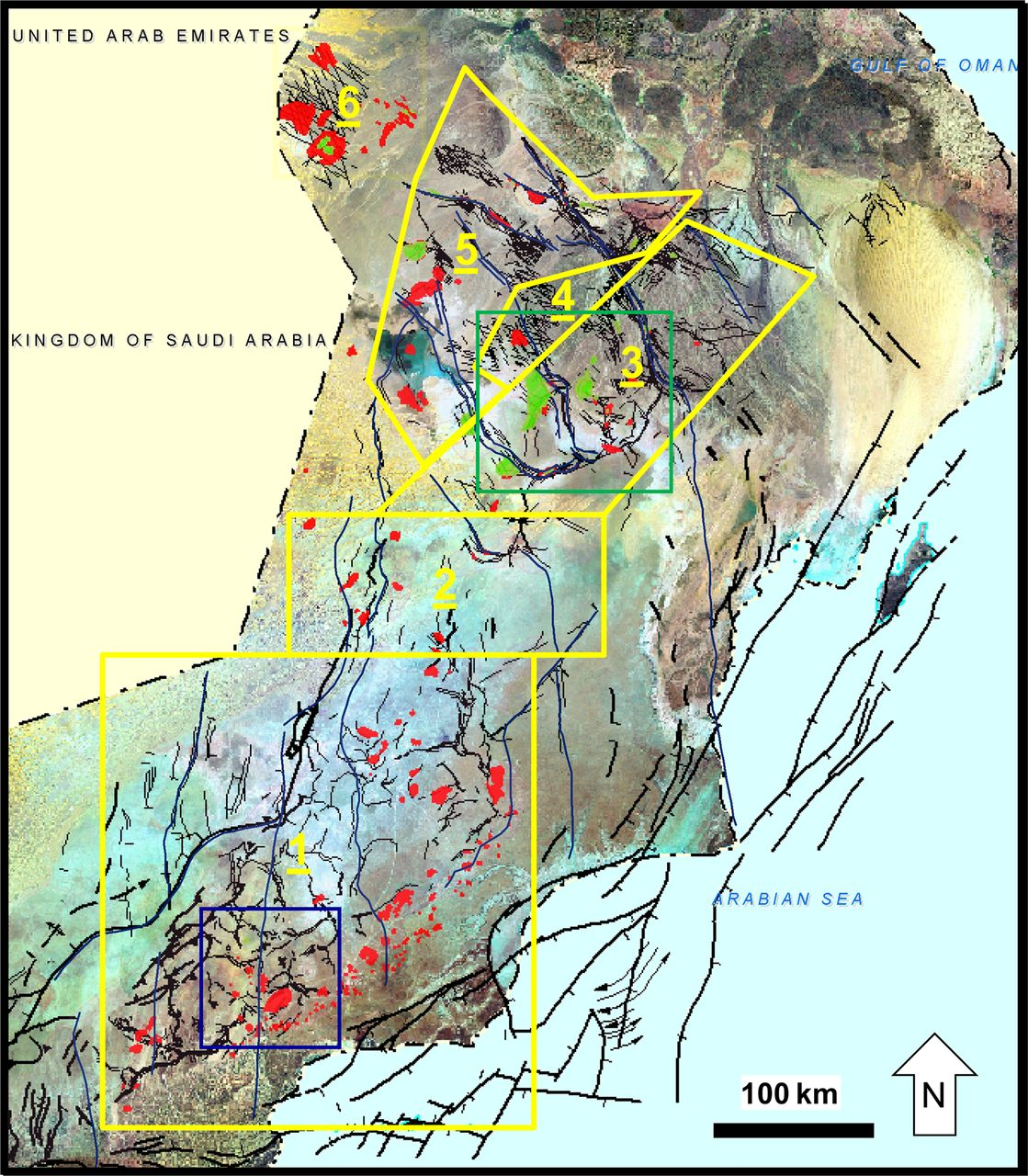 The Main Structural Styles Of The Hydrocarbon Reservoirs In Oman - Oman map download