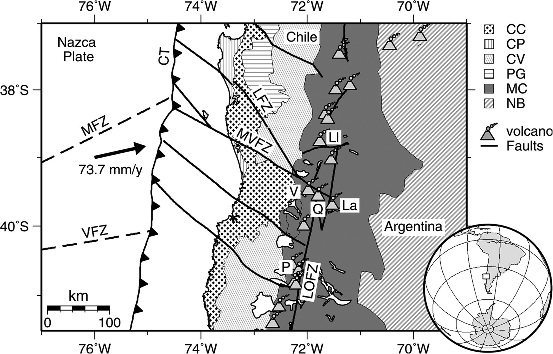 Shear Wave Velocity Structure Of The Chilean Subduction Zone 3940 Kenneth39s Geography Blog Diagram Definition Volcanoes Download Figure