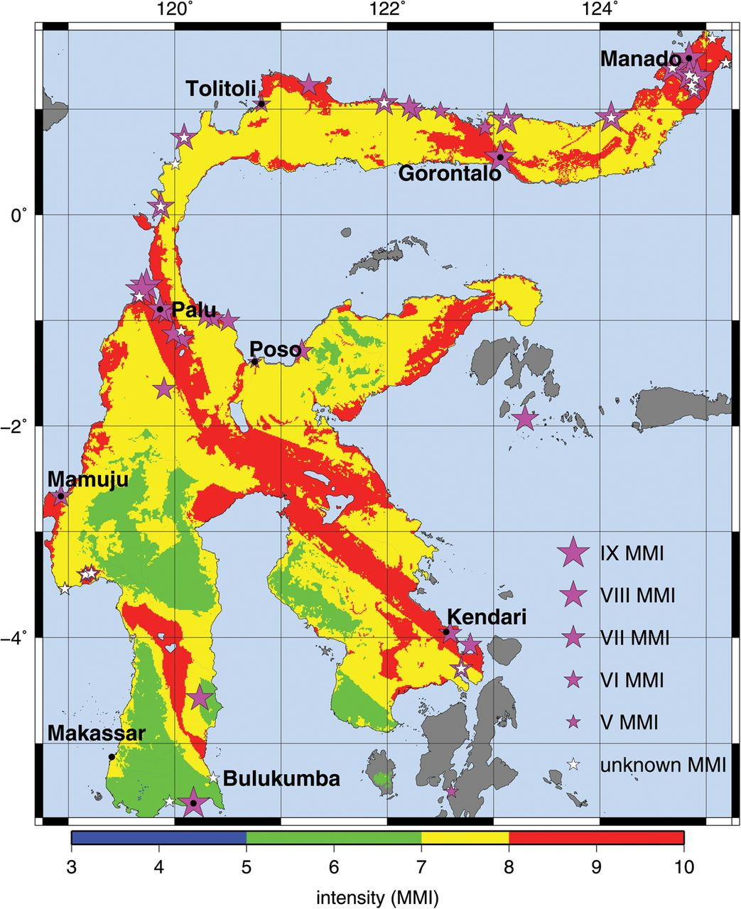 A probabilistic seismic hazard assessment for Sulawesi Indonesia
