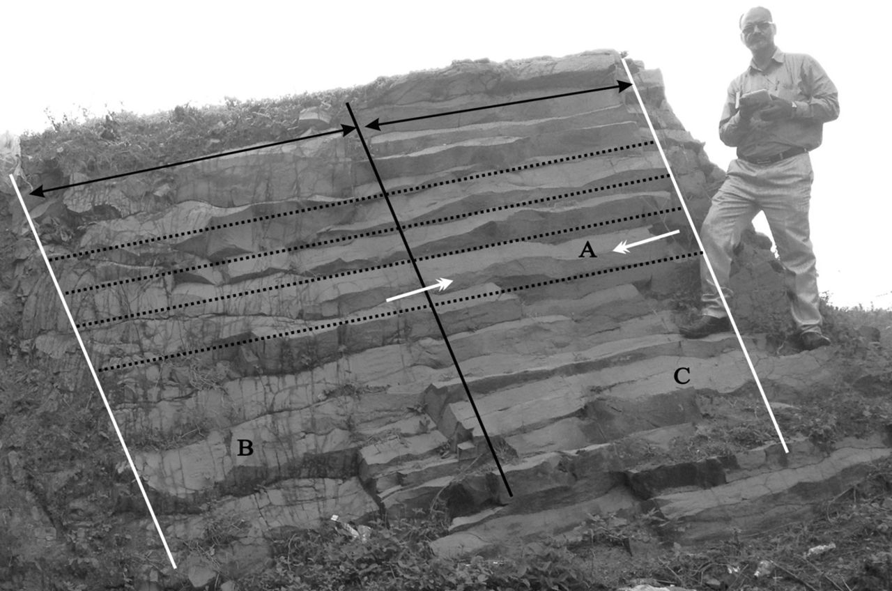 Evidence of the deformation of dykes from the Central Deccan