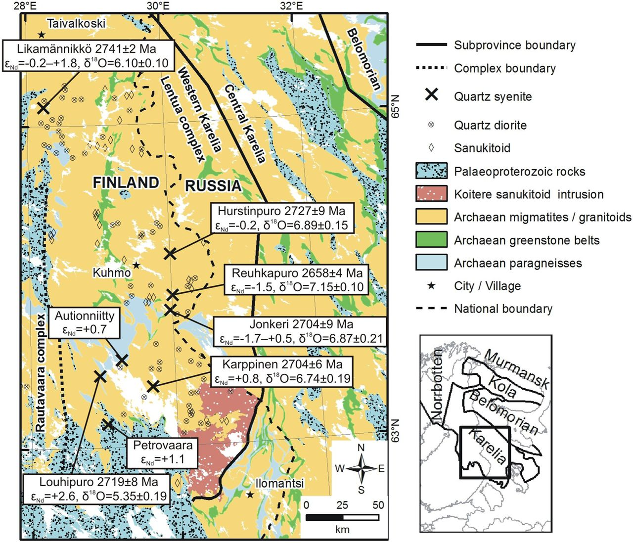 Alkaline Rich Quartz Syenite Intrusions Of The Western Karelia