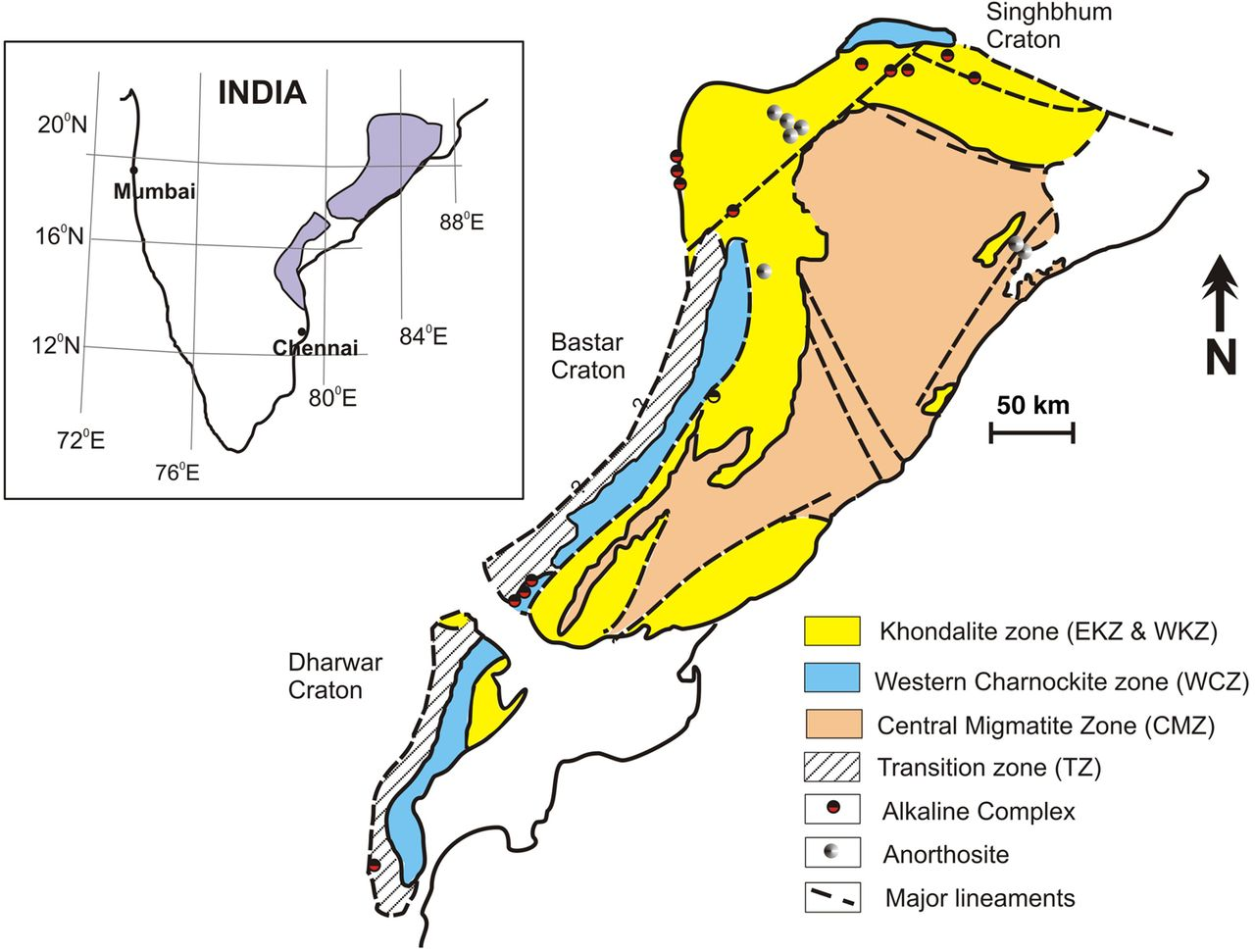 western ghats and eastern ghats difference